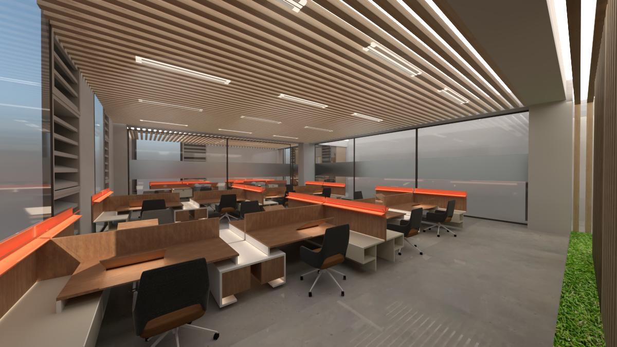 Feng Shui Design, Working Area - Technology University Dublin- Grangegorman East Quad Staff Accommodation